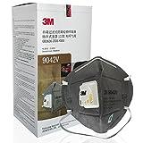 3M 口罩头戴式呼吸阀防雾霾 防粉尘 异味 二手烟 9042V活性炭口罩20只/盒(亚马逊自营商品 由供应商配送)