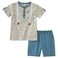 Calvin Klein 男童 2 件装 Polo 衫及短裤套装