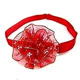 Axgo 花朵狗项圈宠物挂饰配件,适合猫咪蝴蝶结 - *装饰,红色