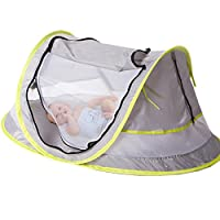 sinotop 婴儿旅行帐篷便携式婴儿沙滩 UPF 50+ SUN 帐篷 POP UP 蚊帐和2脚钉超轻便婴儿蚊帐来自夏季款式1) style 1
