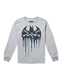 DC Comics 男童 Bat Mask 长袖上衣