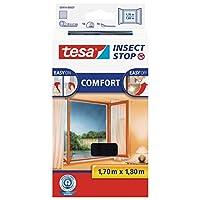 TESA 领结格栅舒适适用于窗户 – * tesa 品质 – 煤黑色, 透明 亮黑色 170 cm x 180 cm