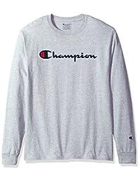 Champion男式经典针织长袖图案T恤