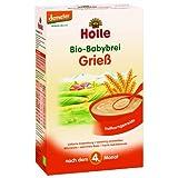 Holle Bio-Babybrei Griess, 3er Pack (3 x 250 g)