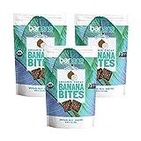 Barnana 椰子香蕉耐嚼片,美味的富含钾的香蕉零食,共30粒,原始,素食,99克,3袋装