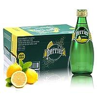 Perrier 巴黎水含气天然矿泉水 330ml*24瓶 (柠檬味) 2018年06月份生产
