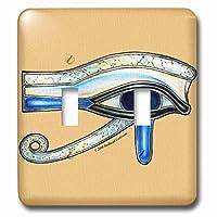 3dRose lsp_167473_2 Opalite Eye Of Ra 埃及棉 Pagan 艺术拨动开关