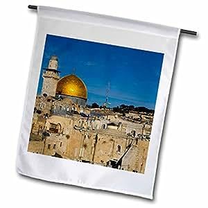 danita delimont–以色列–圆顶 OF THE 摇滚,耶路撒冷, israel-as14apa0130–阿尔多孔雀舞–旗帜 12 x 18 inch Garden Flag