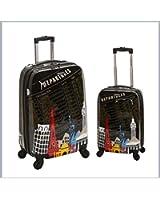 Rockland Luggage 2 Piece Upright Luggage Set