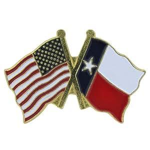 美国国旗商店翻领别针美国和德克萨斯国旗