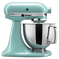 KitchenAid 厨房帮手工匠系列 KSM150PSAQ 5-Qt. 立式搅拌机带倒入保护 青色,需配变压器