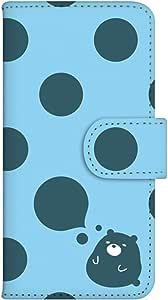 智能手机壳 手册式 对应全部机型 印刷手册 wn-141top 套 手册 圆点 水滴 圆点 水 UV印刷 壳WN-PR014362-S AQUOS PHONE es WX04SH B款
