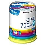 三菱化学媒体CD-R+宜丽客壳SR80FP100V1E 仅主体