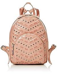 PINKO 女士背包孔眼复古背包,粉色(浅粉色),11x18.5x29.5 厘米