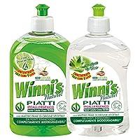 Winni's 薇倪丝 天然植萃浓缩型洗洁精(柠檬苹果香500ml+芦荟香500ml)(进口)(亚马逊自营商品, 由供应商配送)