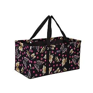 """多功能手提包/实用手提包/大手提包/每个包/可重复使用的购物袋 Black Butterfly-R005, 22"""" 22"""""""
