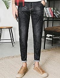Hooper Homme 秋季黑色牛仔裤子男士休闲修身小脚韩版潮流青年弹力长裤修身型牛仔长裤