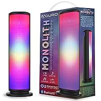 Aduro LED 蓝牙音箱,带脉动灯,无线变色便携式户外派对塔扬声器通用