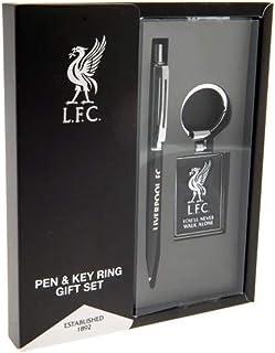 利物浦足球俱乐部钢笔和钥匙扣礼品套装(均码)(黑色/银色)