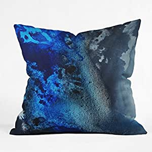 DENY Designs Madart Midnight 1 Throw Pillow, 16-Inch by 16-Inch