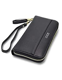Eurlove Women Girl's Leather Credit Card Wallets Card Holder Orangizer Purse with Snap