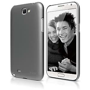 elago G6 超薄保护壳,适用于 Galaxy Note 2 - 环保零售包装ELG6SM-SGMDG-EC Semi glossy Metallic Dark Gray