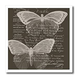 ht_178891 PS Vintage - Brown French Butterflies Vintage - Iron on Heat Transfers