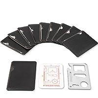 不锈钢 11 合 1 开瓶器生存卡工具适合您的钱包 每包10条 Keleey