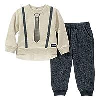 Calvin Klein 男婴 2 件套裤子套装 - 假门襟 3 件套