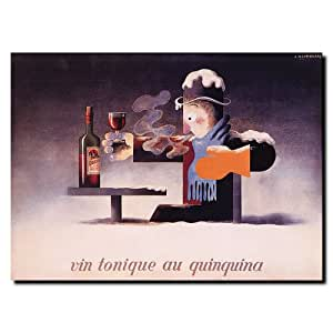 Trademark Fine Art Vin Tonique Quinquina by Adolphe Cassandre Canvas Wall Art, 14x19-Inch