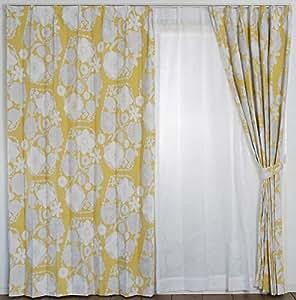史密诺 遮光窗帘 伊哈纳 黄色 100×135cm V1309