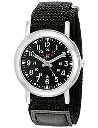 U.S. Polo Assn. 儿童 USB75018 模拟显示模拟石英黑色手表