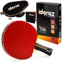 Idoraz 乒乓球拍专业 - Ping Pong Racket 带便携包 - ITTF 认可的橡胶适用于比赛