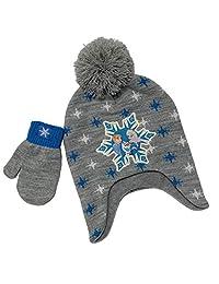 Disney 冰雪奇缘冬季帽子和手套套装,1-4 岁女孩多款灰色
