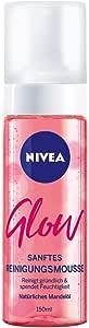 NIVEA 妮维雅 Glow 清洁泡沫4件装,保湿清洁鼠标,杏仁油,彻底温和清洁面部。