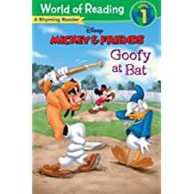 Mickey & Friends:  Goofy at Bat: A Rhyming Reader (Level 1) (World of Reading (eBook)) (English Edition)