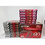 TDK D90 空白盒式磁带,每包 10 张 + 1 张