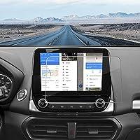 J&D 兼容 2018-2020 福特 Ecosport/2019-2020 福特 Focus/2020 福特 Escape 8 英寸汽车导航屏幕保护膜,1 件装 [钢化玻璃] 福特 Ecosport 高清透明防弹玻璃屏幕保护膜