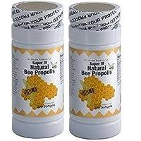 2 x Super III Natural Bee Propolis 200 粒软胶囊/瓶 清新产品