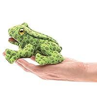 Folkmanis 迷你青蛙手指毛绒玩具