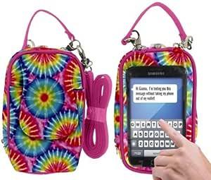 Charm14 大型 Touchsreen 钱包和手机便携包181352 彩虹扎染