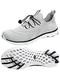 Dlgjpa 男式轻便快干水鞋运动步行鞋 Light Gray# 8.5 M US
