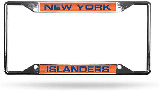 Rico Industries Islanders Ez View 激光镀铬框架,带发光包装
