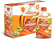 Happy Tot Organic Stage 4 Baby Food Love My Veggies Carrot Banana Mango & Sweet Potato, 4.22 Ounce Pouch (