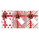 Hallmark 圣诞礼品卡夹 Kraft, 3 Pack