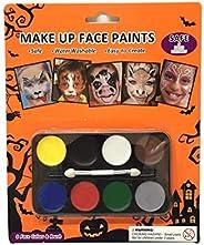8 种化妆面漆颜色套装,适用于儿童,水性涂料 - 万圣节派对
