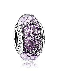 PANDORA 潘多拉 女士深紫色闪烁琉璃串珠 791663 (丹麦品牌)