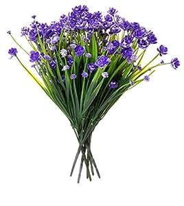 人造桉树草草奶油花 - 24 件装 - 14 英寸适合花卉安排、婚礼、家居和花园装饰