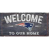 Fan Creations 新英格兰爱国者欢迎做旧 15.24 x 30.48 厘米,15.24 x 30.48 厘米,多色