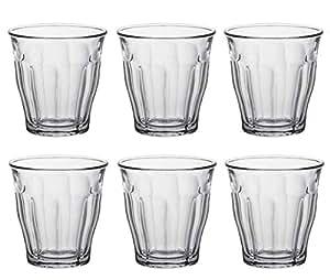 Duralex Picardie 透明杯,6 只装 透明 4-5/8 ounce 1024AB06/6